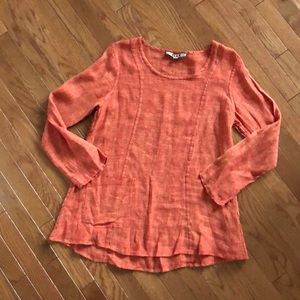 Flax size S long sleeve linen blouse